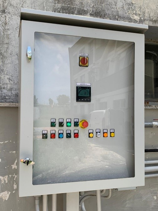 quadro di comando torre di lavaggio